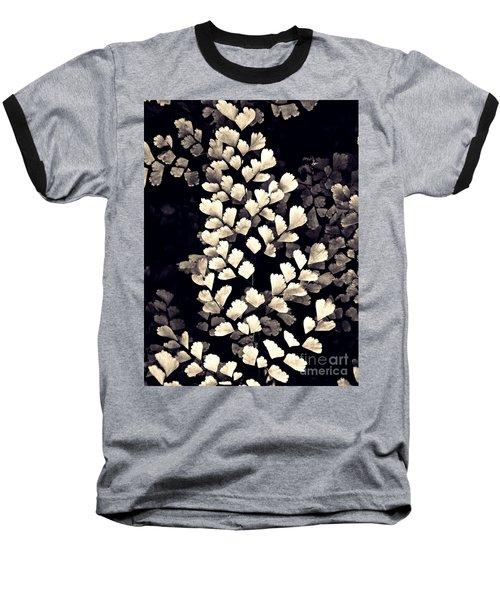 Leaf Abstract 15 Sepia Baseball T-Shirt by Sarah Loft