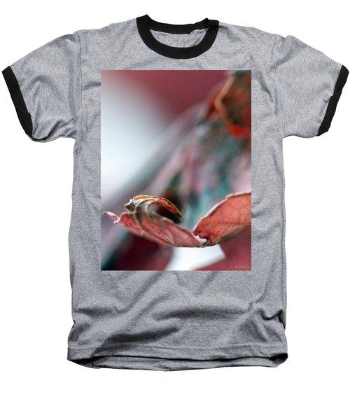 Leaf Abstract I Baseball T-Shirt