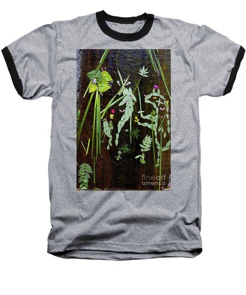 Leaf Art Baseball T-Shirt