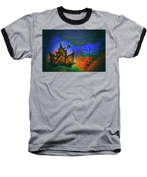 Baseball T-Shirt featuring the photograph Leaf Dancer by James Bethanis