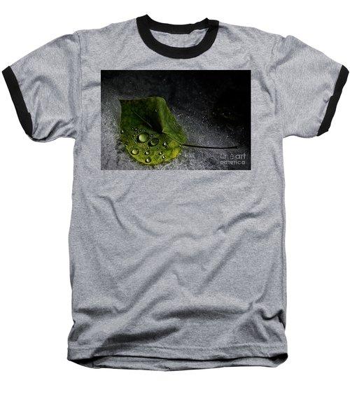 Leaf Droplets Baseball T-Shirt