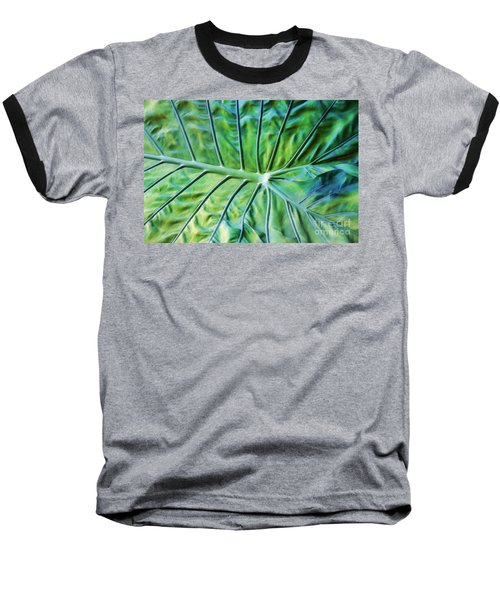 Leaf Pattern Baseball T-Shirt