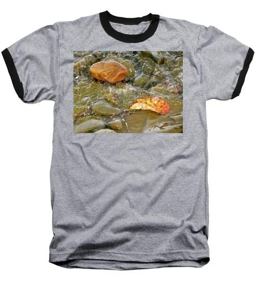 Leaf, Rock Leaf Baseball T-Shirt