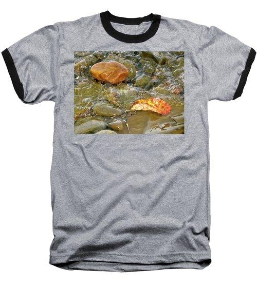 Leaf, Rock Leaf Baseball T-Shirt