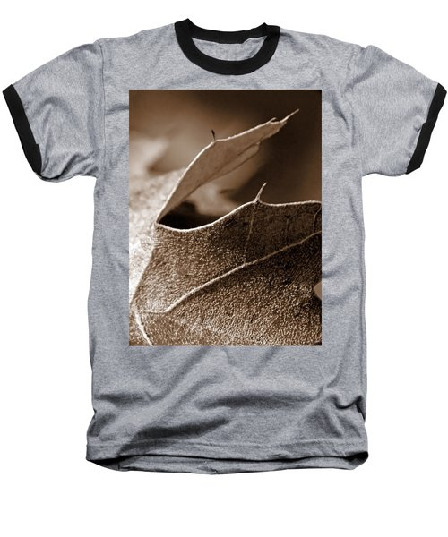 Leaf Study In Sepia II Baseball T-Shirt