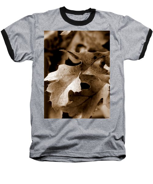 Leaf Study In Sepia IIi Baseball T-Shirt