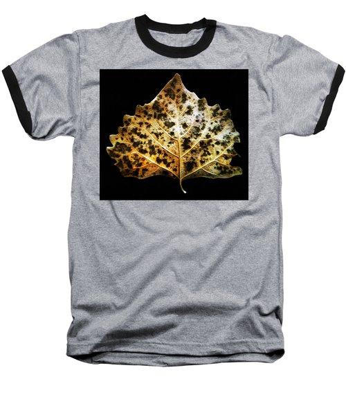 Leaf With Green Spots Baseball T-Shirt by Joseph Frank Baraba