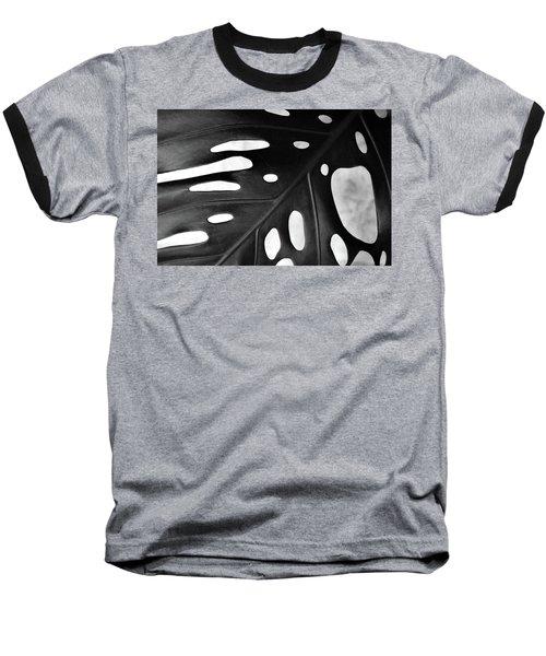 Leaf With Holes Baseball T-Shirt