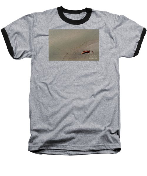 Baseball T-Shirt featuring the photograph Leafe On The Beach by Gary Bridger