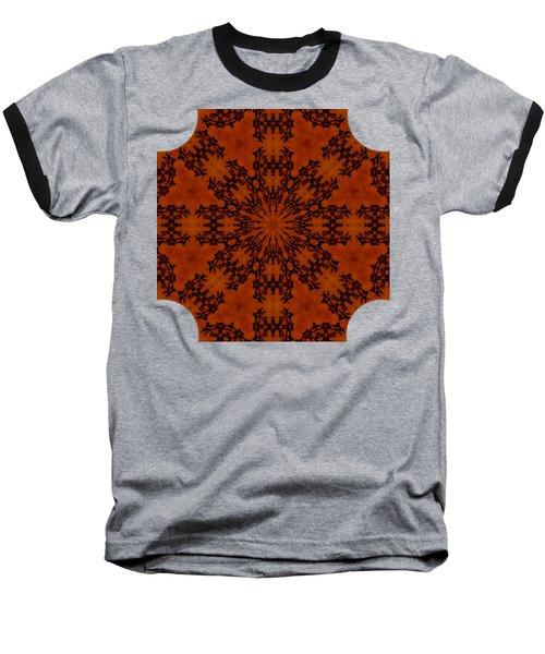 Leafy Kaleidoscope 1 Baseball T-Shirt by Lori Kingston