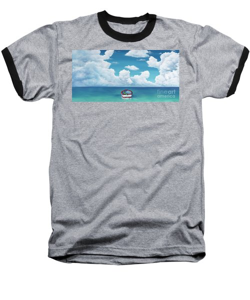 Leaky Little Boat Baseball T-Shirt