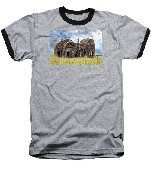 Lean On Me - Stick House Series 1/3 Baseball T-Shirt by Patti Deters
