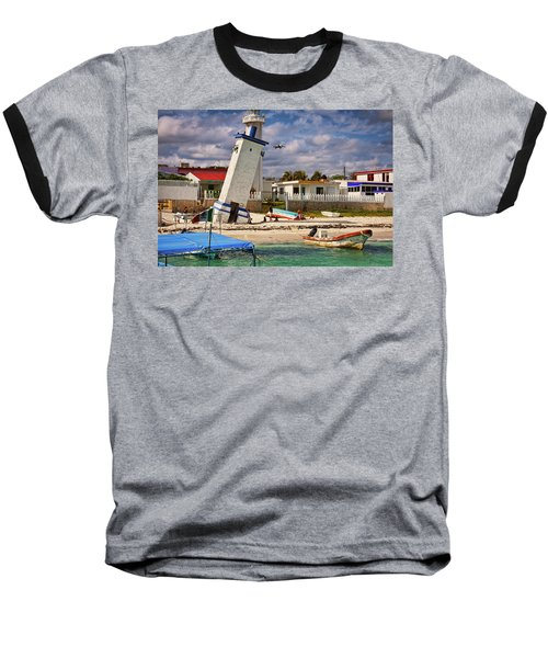 Leaning Lighthouse Baseball T-Shirt