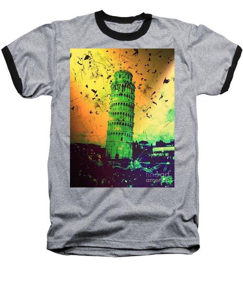 Leaning Tower Of Pisa 32 Baseball T-Shirt