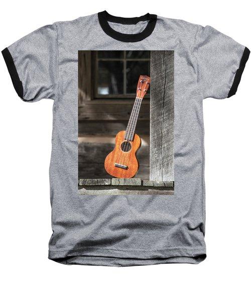 Leaning Uke Baseball T-Shirt