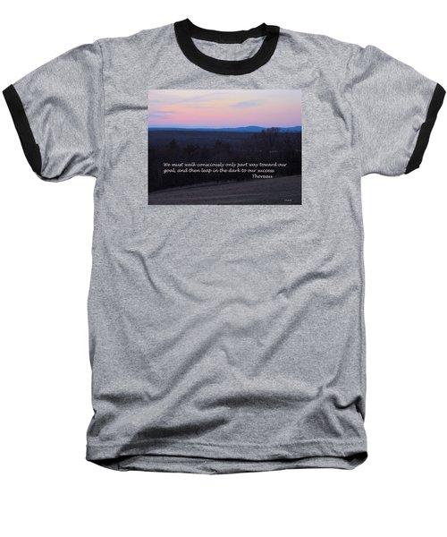 Leap In The Dark Baseball T-Shirt by Deborah Dendler