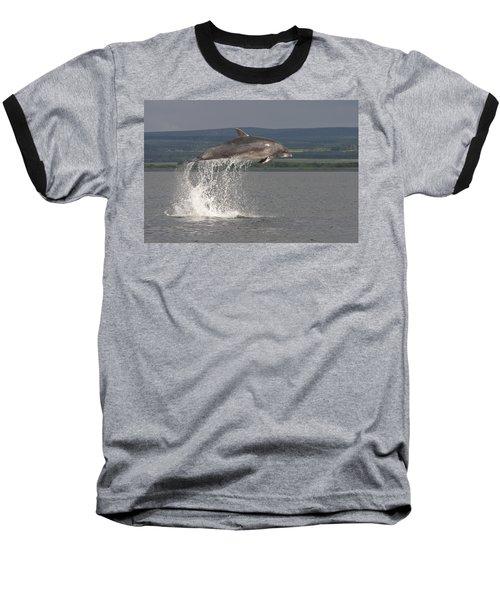 Leaping Bottlenose Dolphin  - Scotland #39 Baseball T-Shirt
