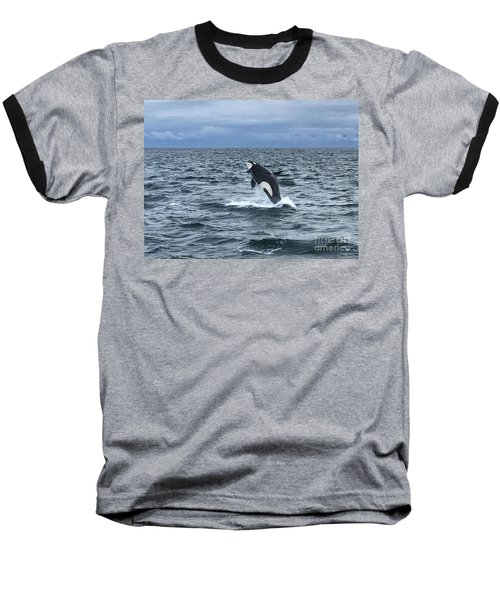Leaping Orca Baseball T-Shirt