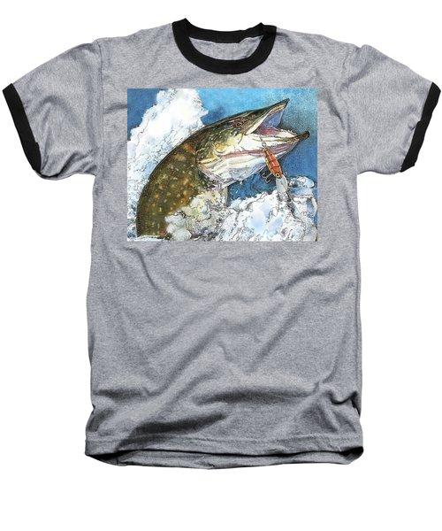 leaping Pike Baseball T-Shirt