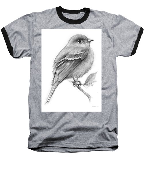 Least Flycatcher Baseball T-Shirt by Greg Joens