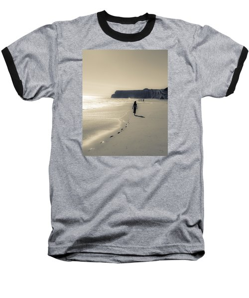 Leave Nothing But Footprints Baseball T-Shirt by Alex Lapidus