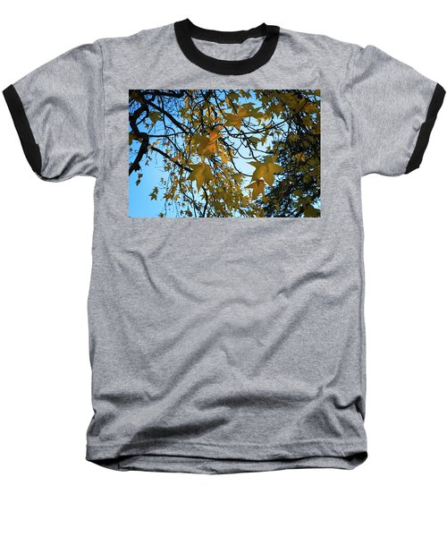 Baseball T-Shirt featuring the photograph Leaves by Cendrine Marrouat