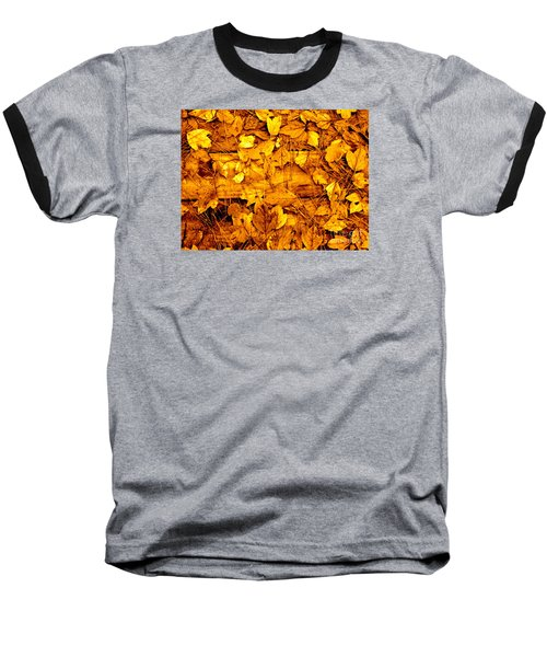 Leaves Of Sepia Baseball T-Shirt
