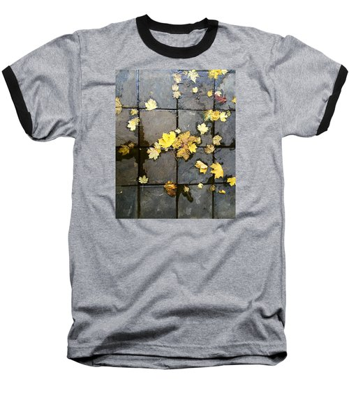 Leaves On Slate Baseball T-Shirt