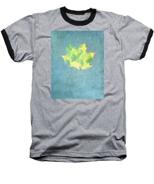 Leaves Through Maple Leaf On Texture 1 Baseball T-Shirt by Gary Slawsky