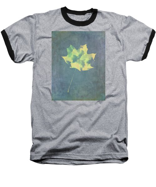 Leaves Through Maple Leaf On Texture 3 Baseball T-Shirt by Gary Slawsky