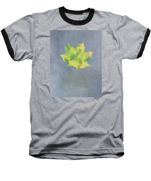 Leaves Through Maple Leaf On Texture 4 Baseball T-Shirt by Gary Slawsky