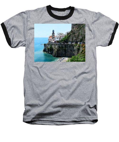 Leaving Atrani  Italy Baseball T-Shirt by Jennie Breeze