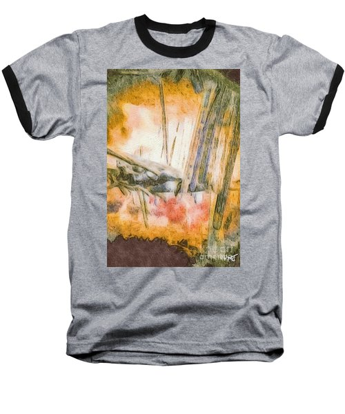 Leaving The Woods Baseball T-Shirt by William Wyckoff