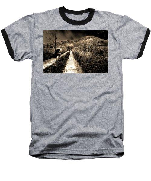 Leaving This Town Baseball T-Shirt by Gray  Artus