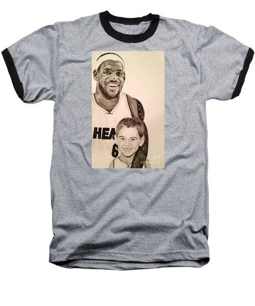 Baseball T-Shirt featuring the painting Lebron And Carter by Tamir Barkan