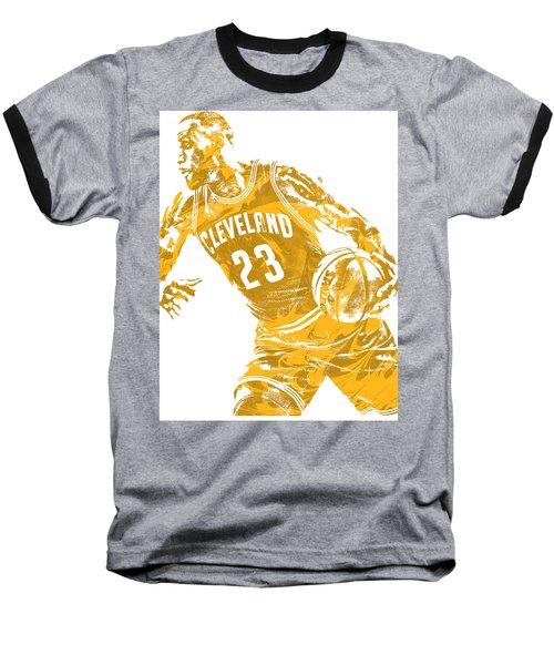 Lebron James Cleveland Cavaliers Pixel Art 20 Baseball T-Shirt