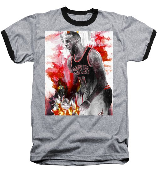 Lebron James Cleveland Cavs Digital Painting Baseball T-Shirt