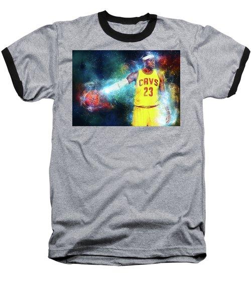 Lebron James Baseball T-Shirt by Taylan Apukovska