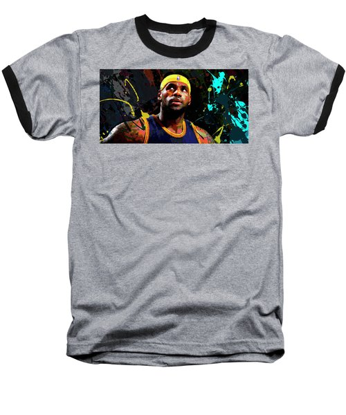 Baseball T-Shirt featuring the painting Lebron by Richard Day