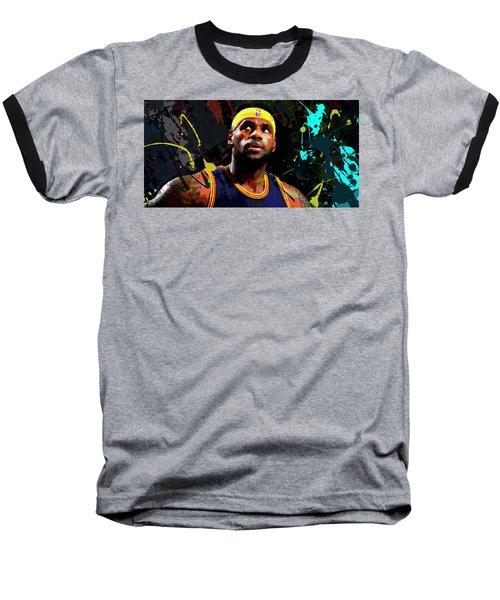 Lebron Baseball T-Shirt by Richard Day
