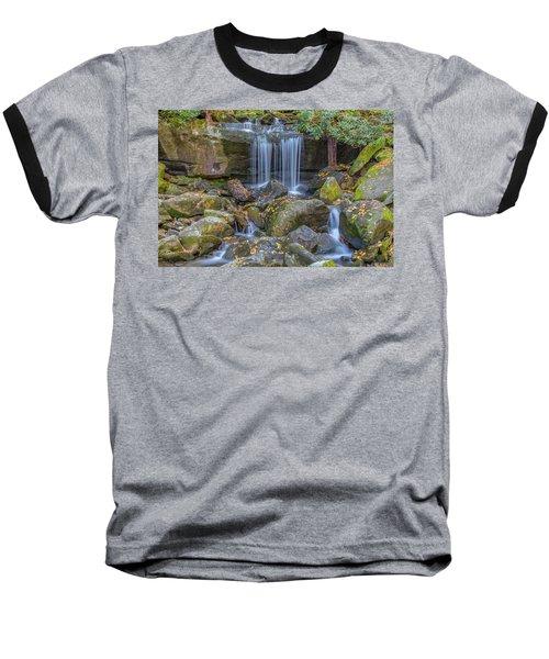 Leconte Creek Waterfall 2 Baseball T-Shirt