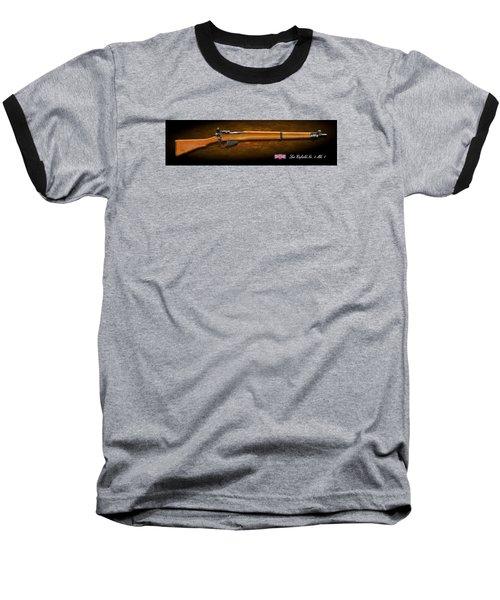 Lee Enfield British Firearm Study Baseball T-Shirt by John Wills