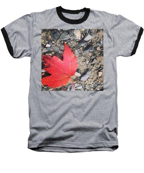 Left For Red Baseball T-Shirt by Jason Nicholas