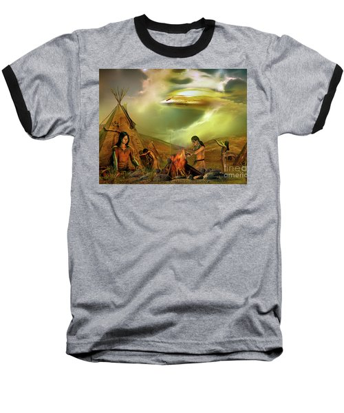 Legends Of The Sky People  Baseball T-Shirt by Shadowlea Is