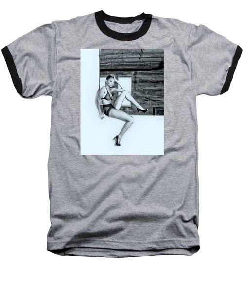 Legs IIi Baseball T-Shirt by Gregory Worsham