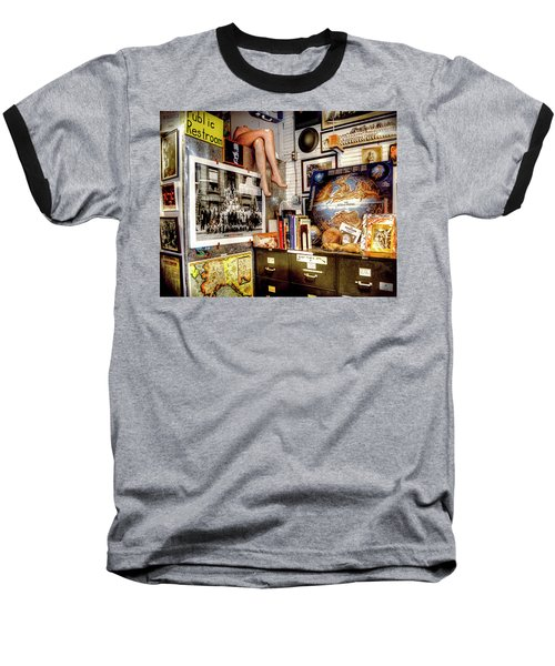 Legs In The Back Of The Shop Baseball T-Shirt