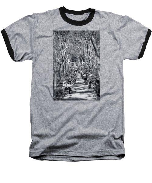 Leisure Time Baseball T-Shirt by Sabine Edrissi