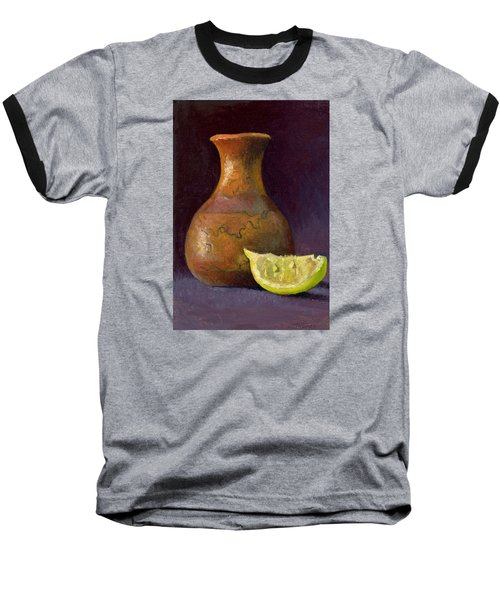 Lemon And Horsehair Vase A First Meeting Baseball T-Shirt by Catherine Twomey