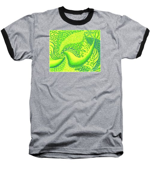 Baseball T-Shirt featuring the drawing Lemon Lime by Kim Sy Ok