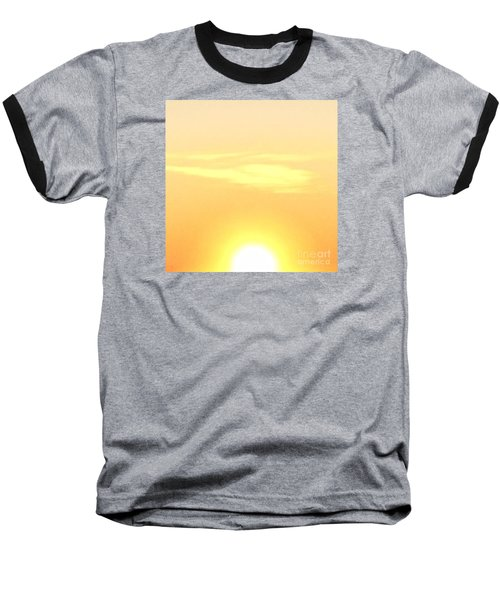 Lemon Meringue Sky Baseball T-Shirt by Patricia E Sundik